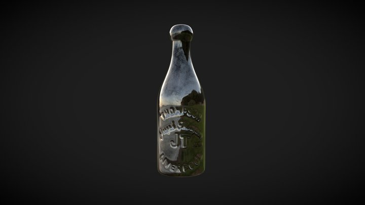 Glass Bottle - (Liverpool Court Housing) 3D Model