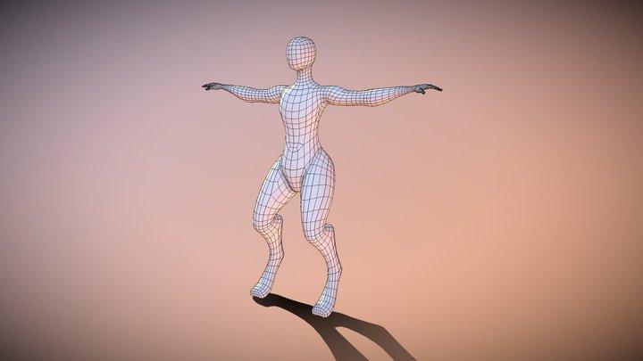 Base Human antropomorfo 3D Model