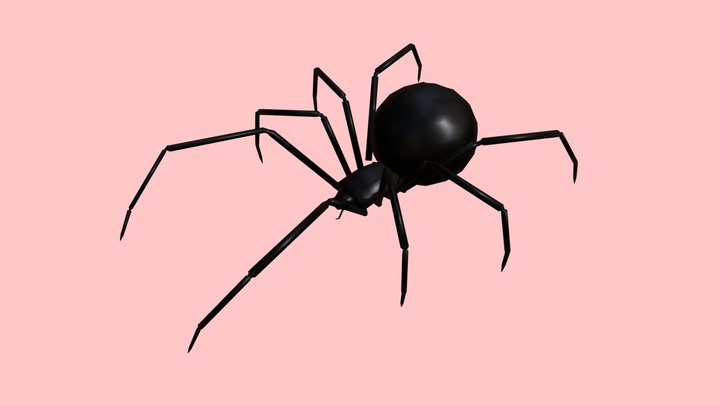 Low Poly - Spider 3D Model