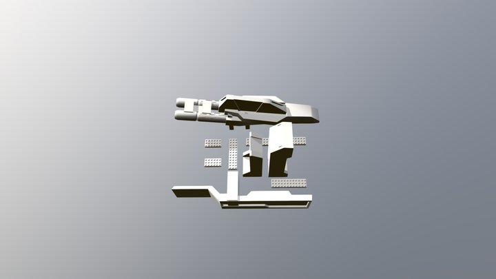 1/400 Type D Gnarms parts example 3D Model