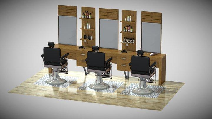 hairdresser furniture 3D Model