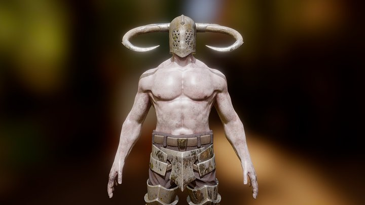 Scary warrior 3D Model