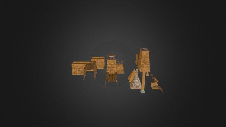 Egyptian Environment 3D Model