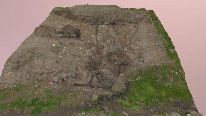 Gurteenroe 1 - Excavated burnt mound 3D Model