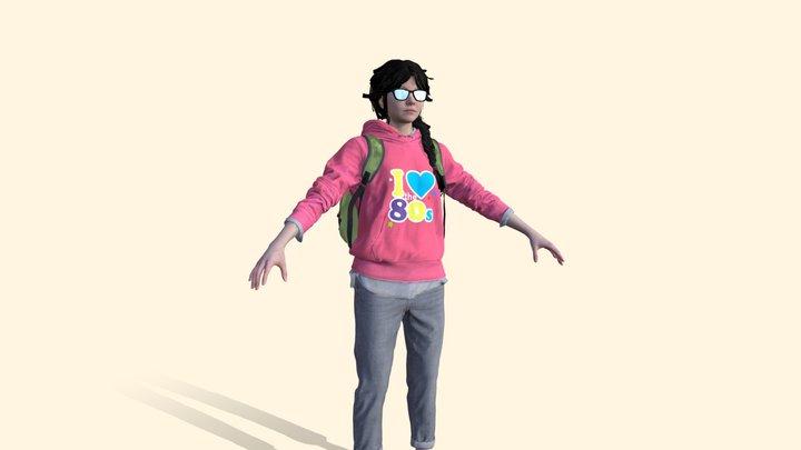 Valerie Harmon School Girl Character 3D Model