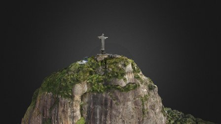 Corcovado and Christ the Redeemer 3D Model