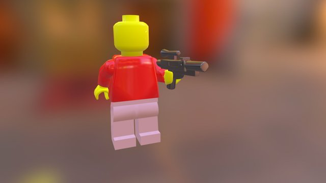 Lego Mini Figure 3D Model