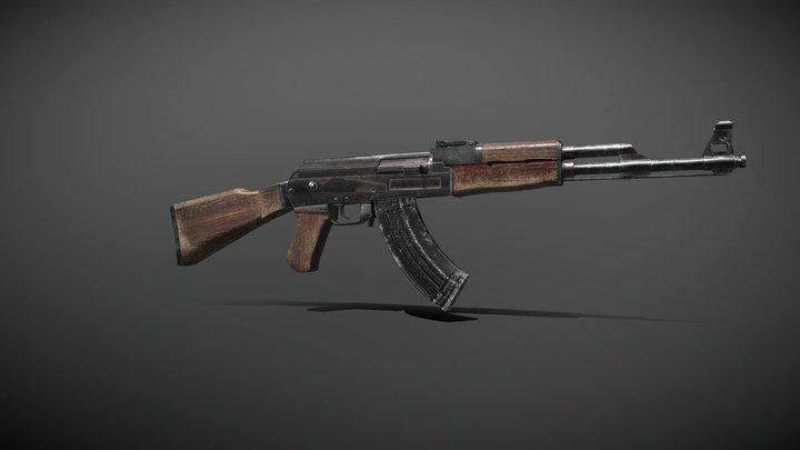 AK47 1 Low 3D Model