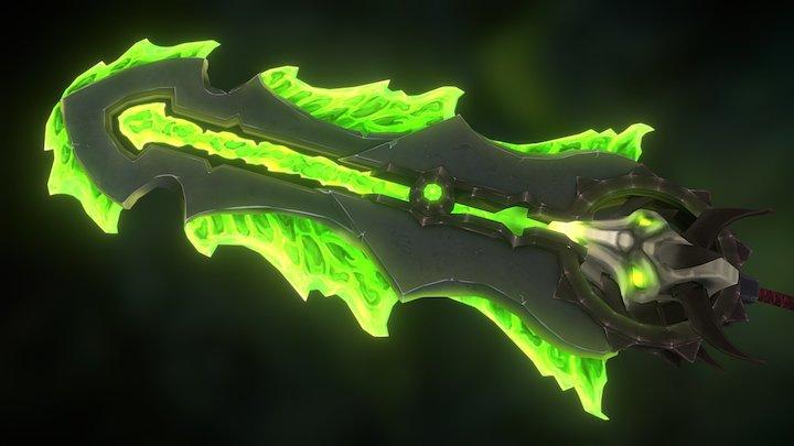 Fel-Inflicted Greatsword 3D Model