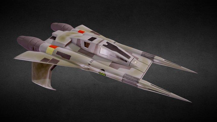Thunder Fighter — Buck Rogers 3D Model