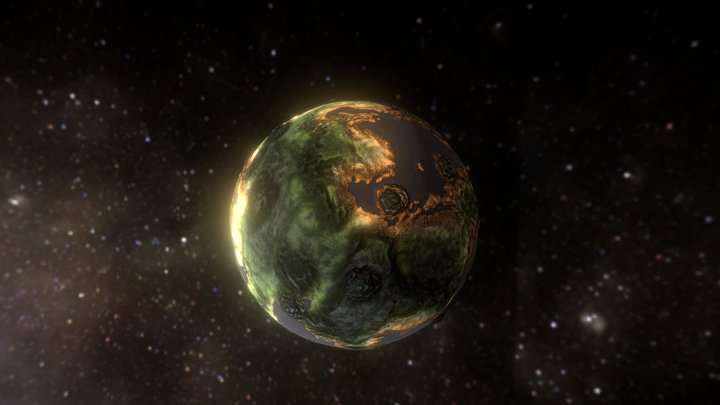 Planet on the move 3D Model
