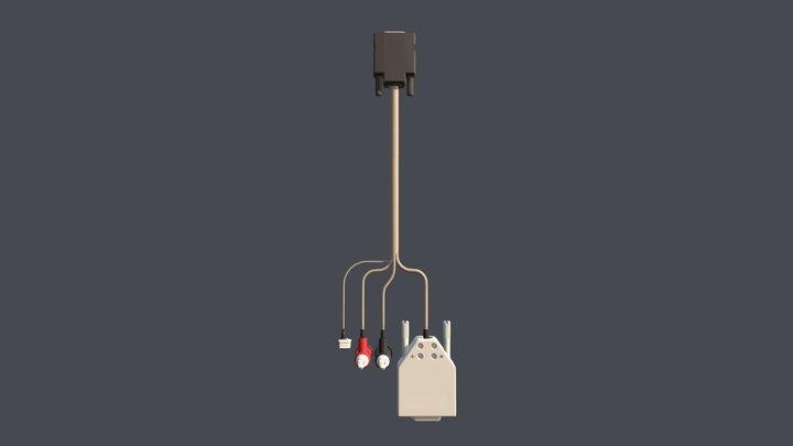 UC318, Cable, Dev, DB9, Banana, Altitude Encoder 3D Model