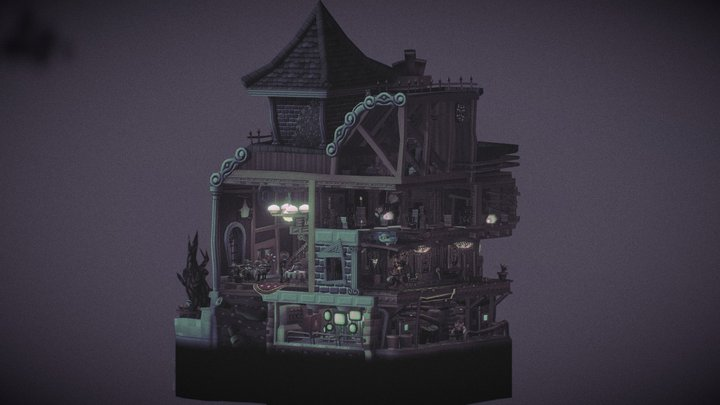 Resident Hill: The Mansion 3D Model