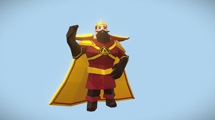 King posed - Medieval Fantasy Challenge 3D Model