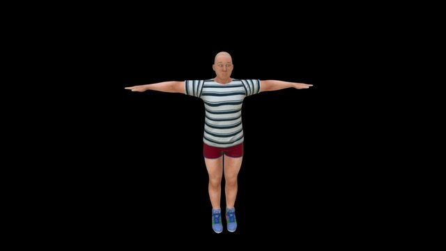 Dv1 Danny in T and Shorts 3D Model