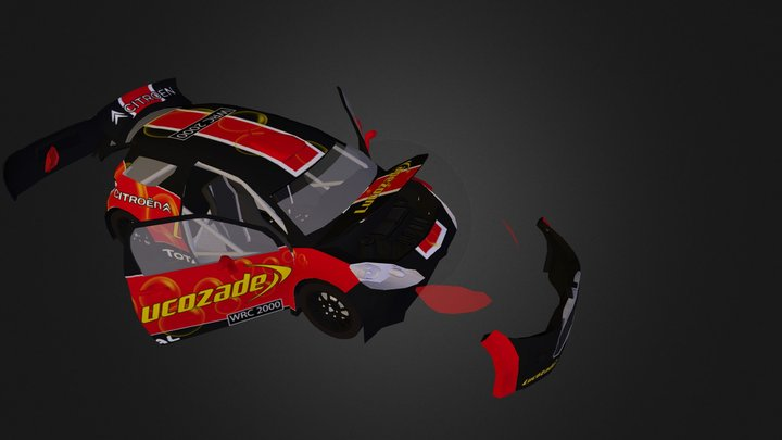 Citroen DS3 WRC 2000 Diffuse Open 3D Model