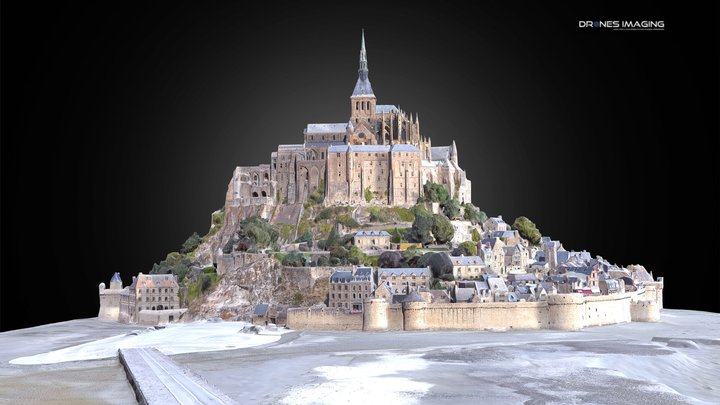 Mont Saint Michel - France 3D Model