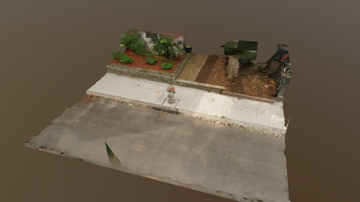 Hydrant and Street 3D Model