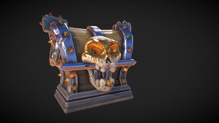 Stylized PBR Treasure Chest (*TUTORIAL*) 3D Model