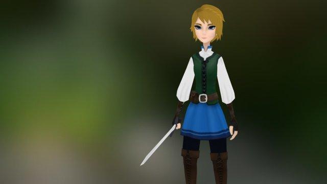 Adventurer girl Finn 3D Model