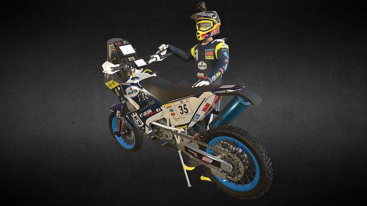 Husqvarna FR450 Rally Dakar 3D Model