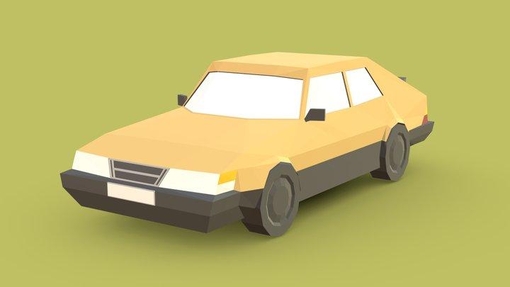 Lowpoly Car - Saab 900 3D Model