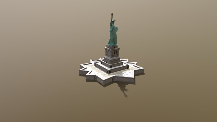 Statue of Liberty National Monument 3D Model
