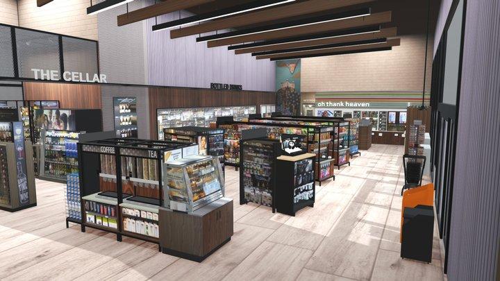 7-Eleven Dallas Lab Store 3D Model