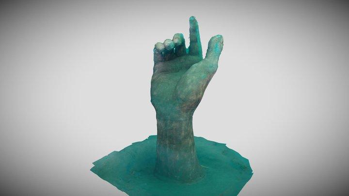 Hand at Centeen Underwater Park in Brockville. 3D Model
