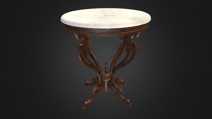 Antique Pedestal Table 001 (High Poly) V1 3D Model
