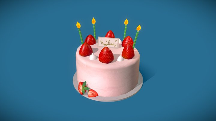 Surprising Cake A 3D Model Collection By Nixtaoz Nixtaoz Sketchfab Personalised Birthday Cards Veneteletsinfo
