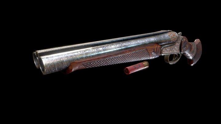 Sawed-Off Shotgun 3D Model