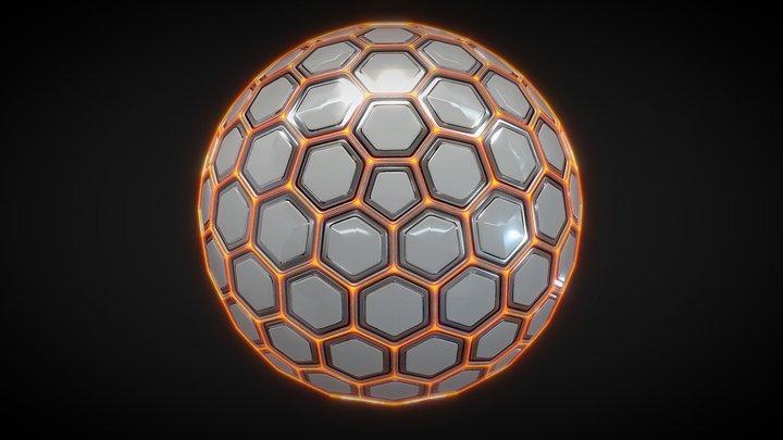 Sci-fi Hexa Sphere 3D Model