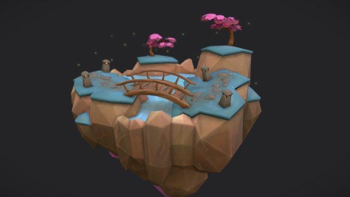Floating Garden 3D Model