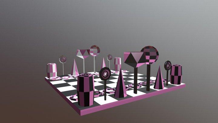 Scacchiera Caramella 3D Model