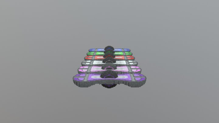 Hoverboard model 4 all-colours 3D Model