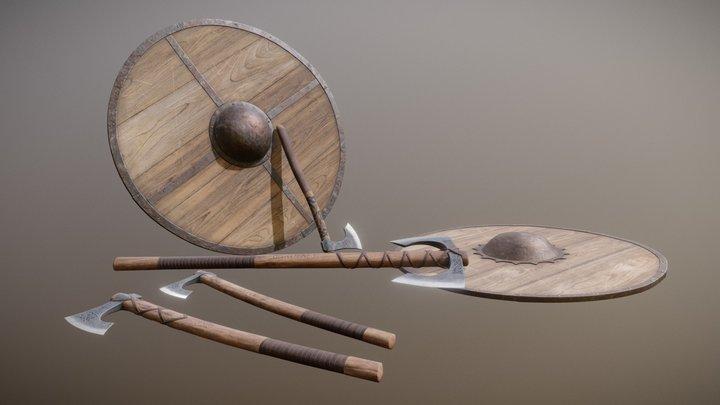 Viking Weapons Set. 3D Model
