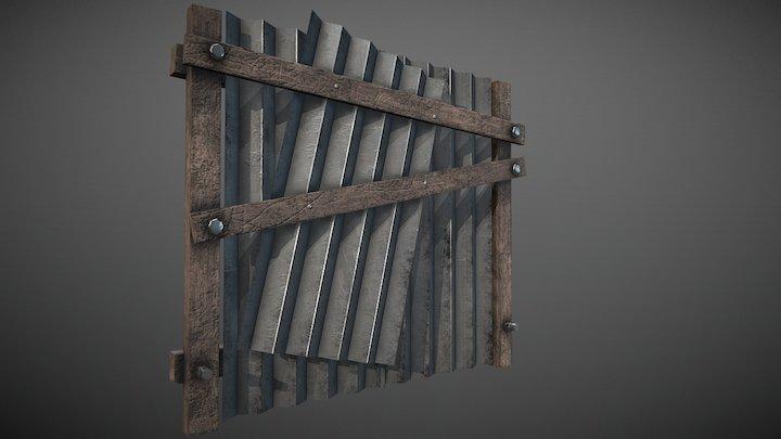 Tin Fence 3D Model