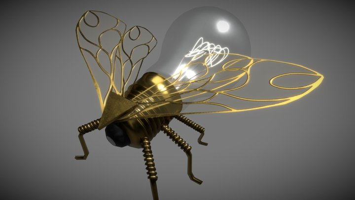 Bulb Bee 3D Model
