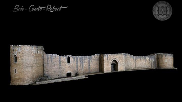 Chateau de Brie-Comte-Robert, façade Nord-Est 3D Model