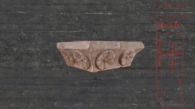 XVI's century arch impost 3D Model