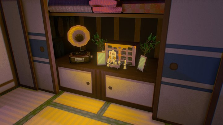 Crossroads Comix - Japanese Apartment 3D Model