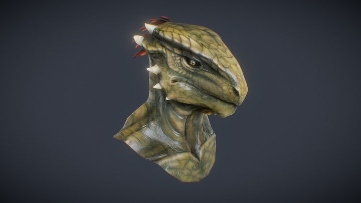 Lizard Character 3D Model