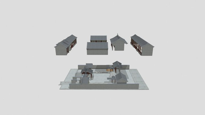 Buildings All Scattered 3D Model