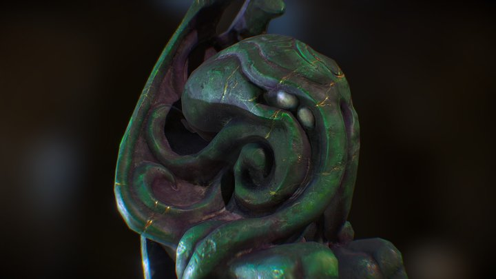 The Cthulhu Statue 3D Model