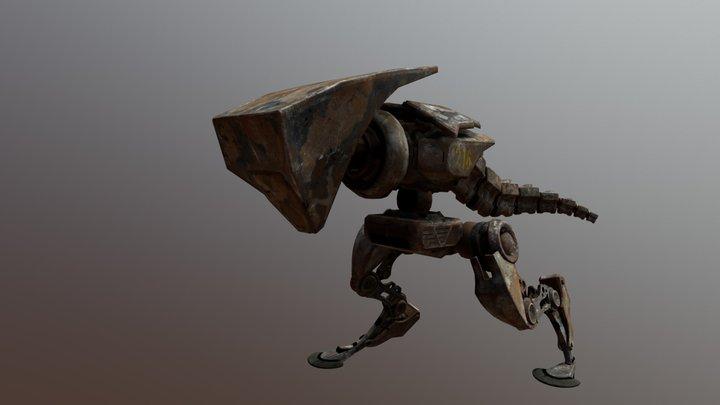 Robotic T-Rex Roaring Animation 3D Model