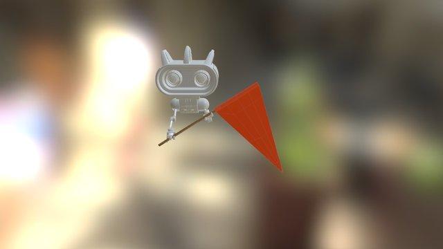 FlagBot 3D Model