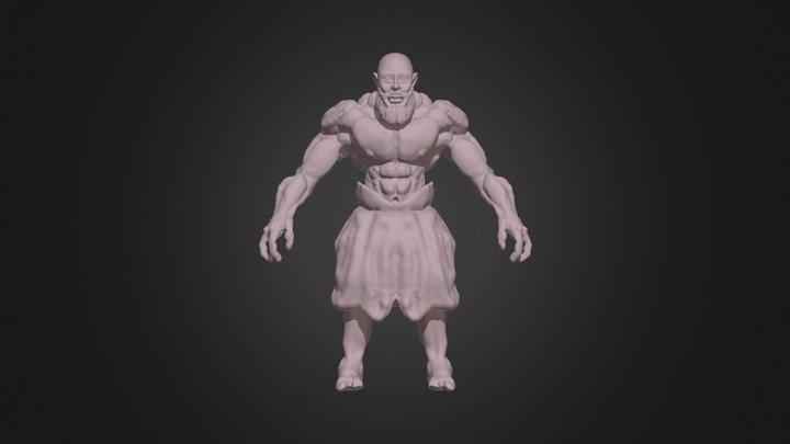 strongest man 3D Model