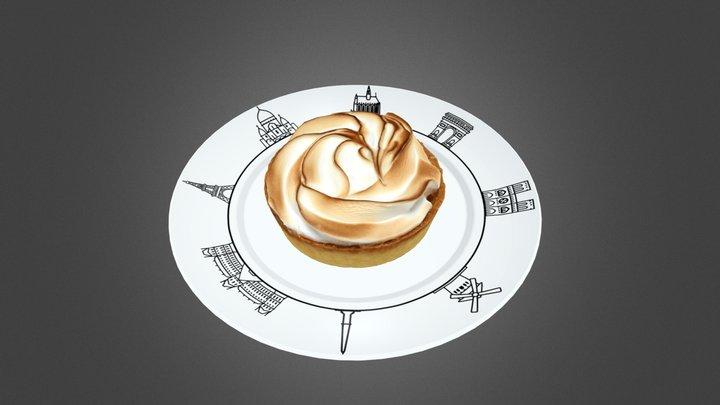 Lemon Meringue Pie 3D Model