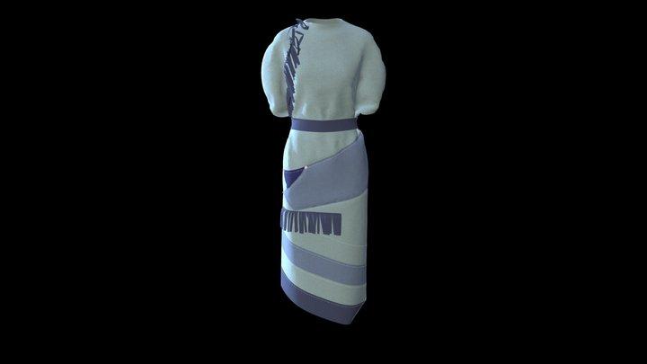 Dnipro Project Dress 5 3D Model